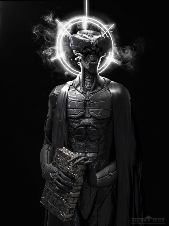 Andres Rios artstation arte ilustrações esculturas digitais modelos 3D fantasia ficção terror sombrio