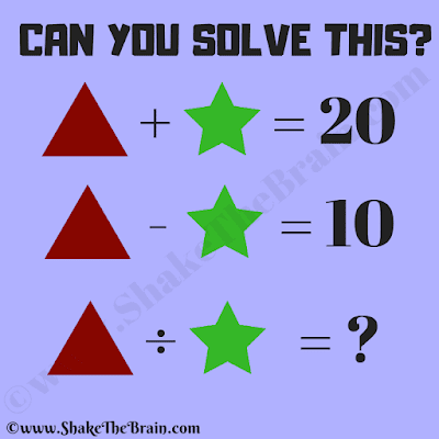 In this Mathematical Equations In Picture, your challenge is to find the value of the missing number which replaces question mark in the last equation