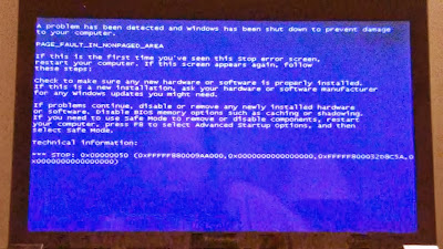 blue screen of the dead