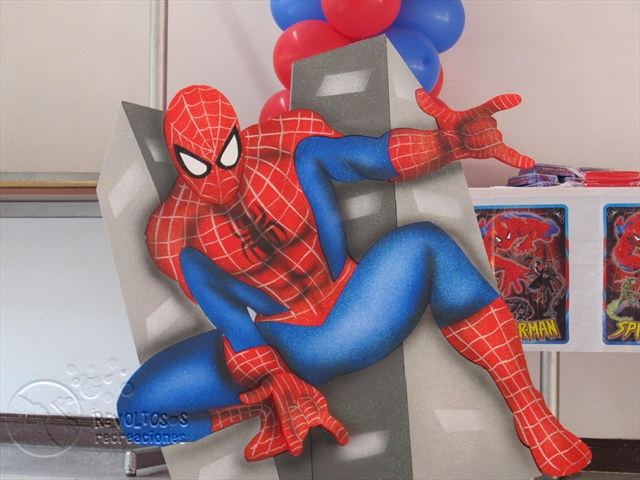 Decoracion spiderman hombre ara a decoracion fiestas - Decoracion de aranas ...