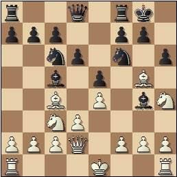 Partida de ajedrez Nina Esteban vs. María Luisa Martín Gamero, posición después de 8…h6!