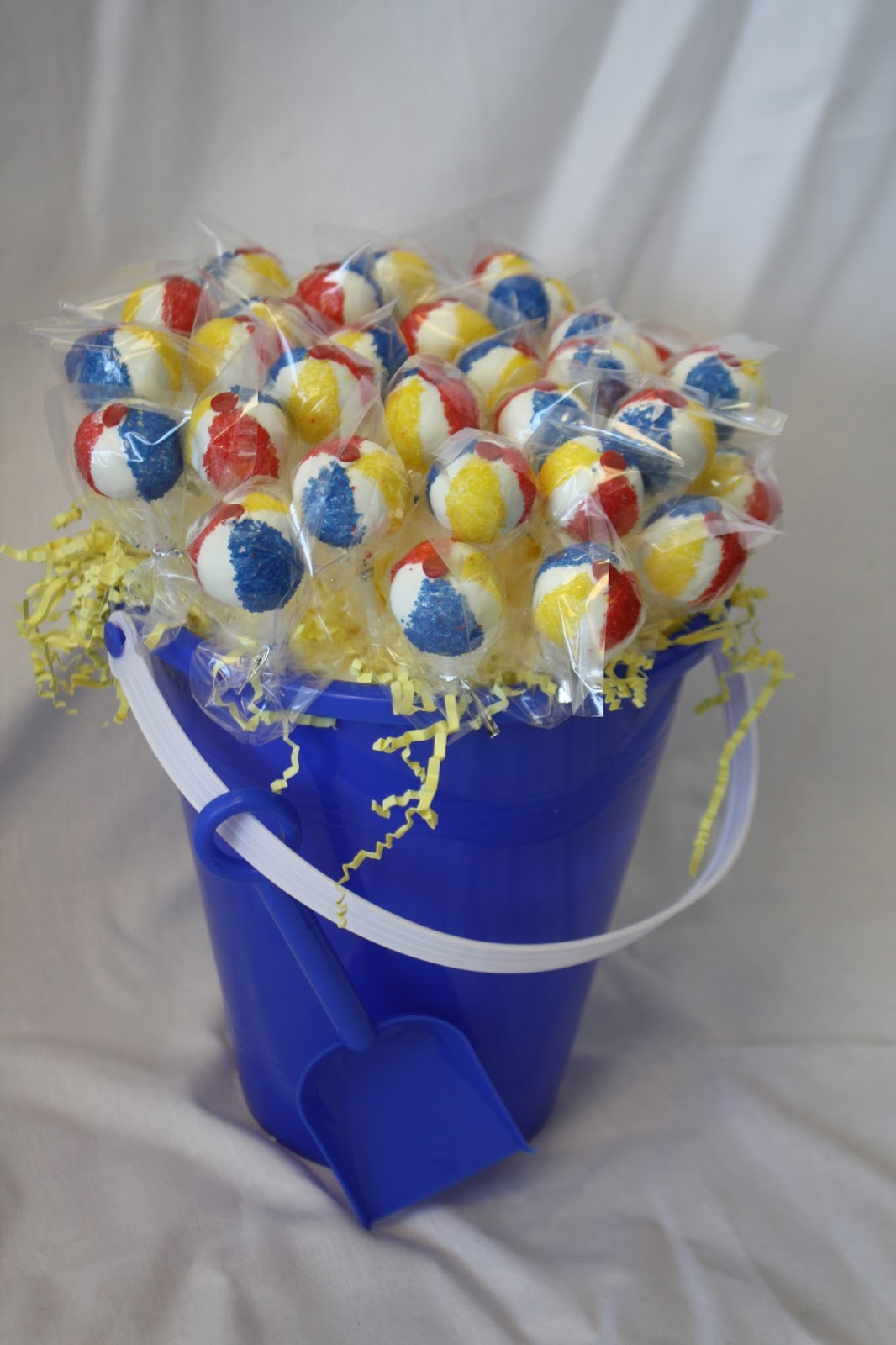 Hock Cakes Llc 1st Birthday Cake Beach Ball Cake Pops