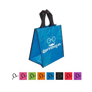 Bolsas baratas personalizadas azules
