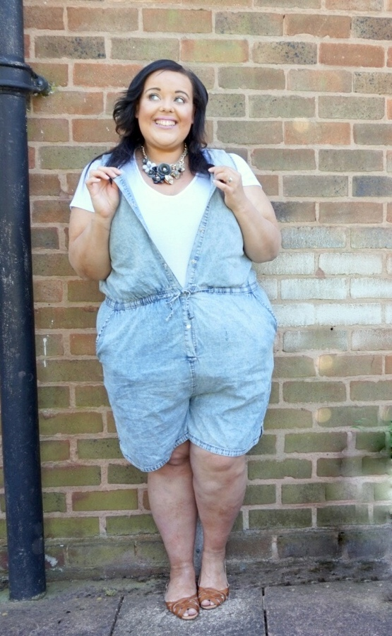 Playing Outdoors Plus Size Playsuit Diamonds Pearls
