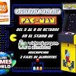 Campeonato solidario de Pac-Man en , Videojuegos x alimentos (RetroBarcelona 2017)