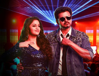 Keerthy Suresh with Cute and Lovely Smile with Vijay in Sarkar
