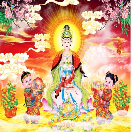 Vector Phật Quan âm.