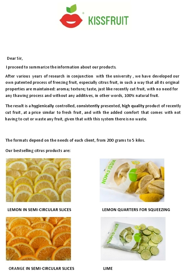 Spanish food prodespa new product lemons oranges limes sliced wednesday 25 may 2016 forumfinder Image collections