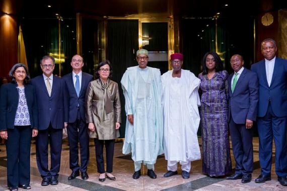 President Buhari receives World bank MD and other senior Director