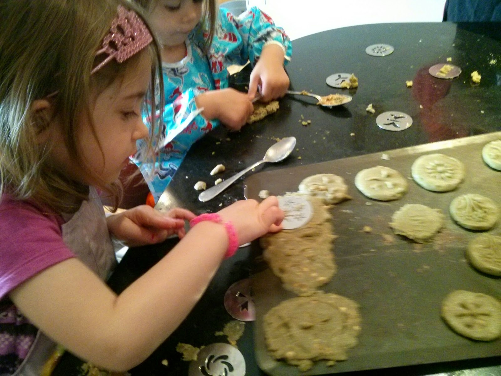 pressing the cookies