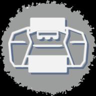 print social button