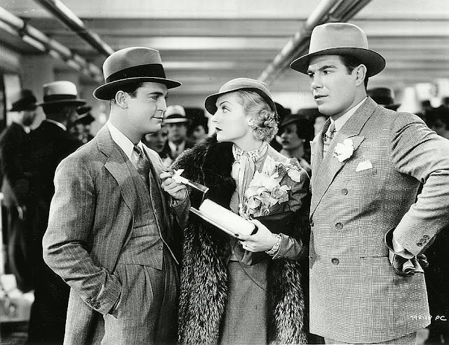 Chester Morris, Carole Lombard and Nat Pendleton in The Gay Bride (1934)