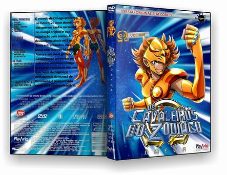 CAPA DVD – Cavaleiros Do Zodiaco Omega Disco 3 – DVD-R