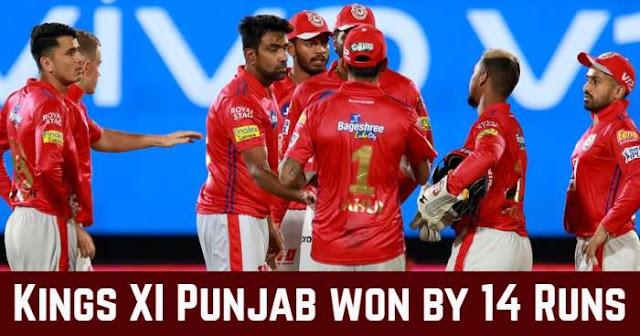 Kings XI Punjab won by 14 Runs