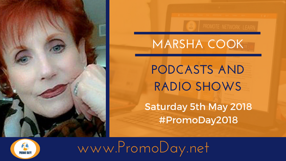 #PromoDay2018 #Webinar: Podcasts and Radio Shows with Marsha Cook