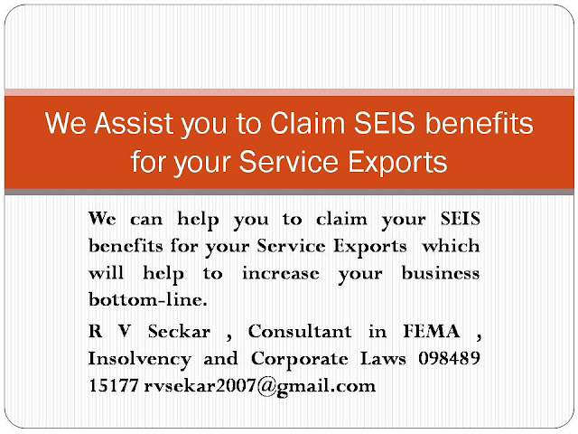 R V Seckar Consultant in FEMA , Corporate and Insolvency Law consultant,