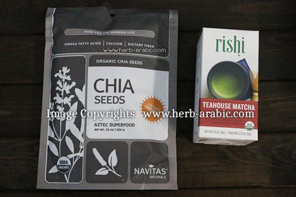 تجربة شراء بذور الشيا وشاي الماتشا الياباني