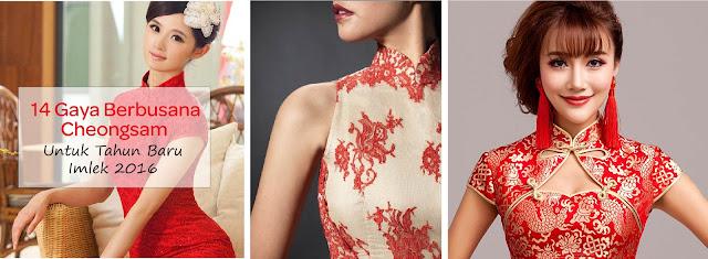 Nihao,   Its okay ya sekali - kali menyapa dalam bahasa Tionghoa berhubung perayaan Sincia akan segera tiba, 08 Februari 2016 :) .  Kalau kita berbicara tentang perayaan Sincia, pasti yang terbersit di pikiran adalah warna Merah (melambangkan kemakmuran), Cheongsam / Qipao dan Angpao lol.    Cheongsam / Qipao adalah pakaian wanita dalam bentuk dress yang merupakan pakaian tradisional Tionghoa. Sedangkan Changsan adalah untuk kaum pria. Aku sendiri suka dengan fashion trends Cheongsam / Qipao ini. Dan aku juga berencana untuk memakainya pada saat kumpul keluarga nanti. Di post ini aku mau share beberapa style Cheongsam / Qipao yang bisa dijadiin referensi bagi kalian yang merayakan Sincia / Imlek. Enjoy!            Dari ke 14 Cheongsam diatas, aku sangat menyukai Cheongsam yang ini nih teman - teman :) . Modern yet elegant, love this.    Kalau teman - teman suka juga memakai Cheongsam? Dari 14 Gaya Berbusana Cheongsam Untuk Tahun Baru  Imlek 2016 di atas, mana yang menjadi favoritmu?    Until next post!     Instagram - Twitter - Facebook - Pinterest      image via www.pinterest.com