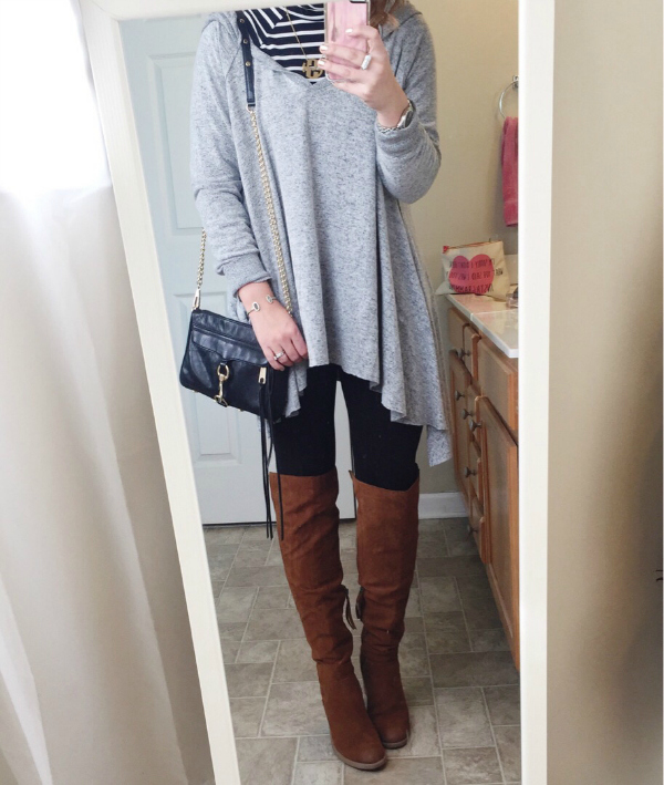 mom style, over the knee boots