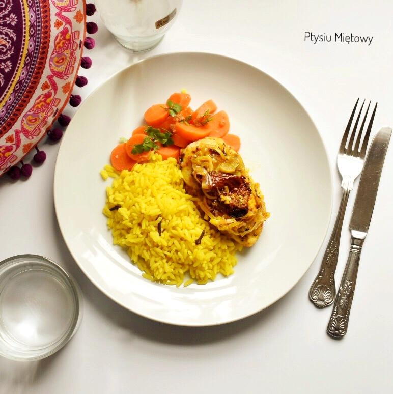 ryz, obiad, ptysiu mietowy