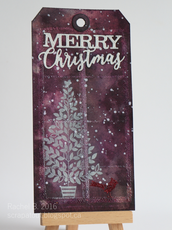 Scrapatout - Handmade tag for 12 Tags of Christmas with a Feminine Twist 2016 challenge