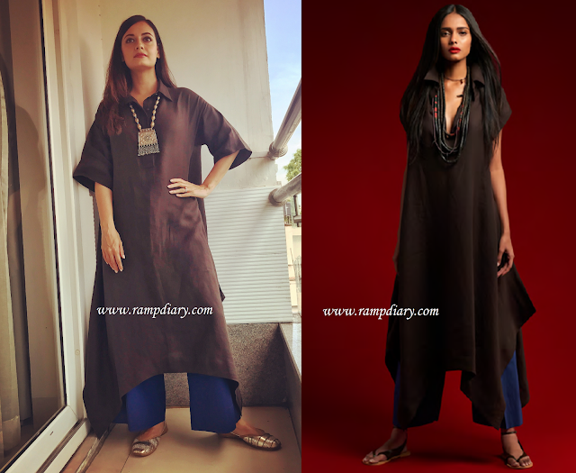 Dia Mirza In Payal Khandwala and Fizzy Goblet