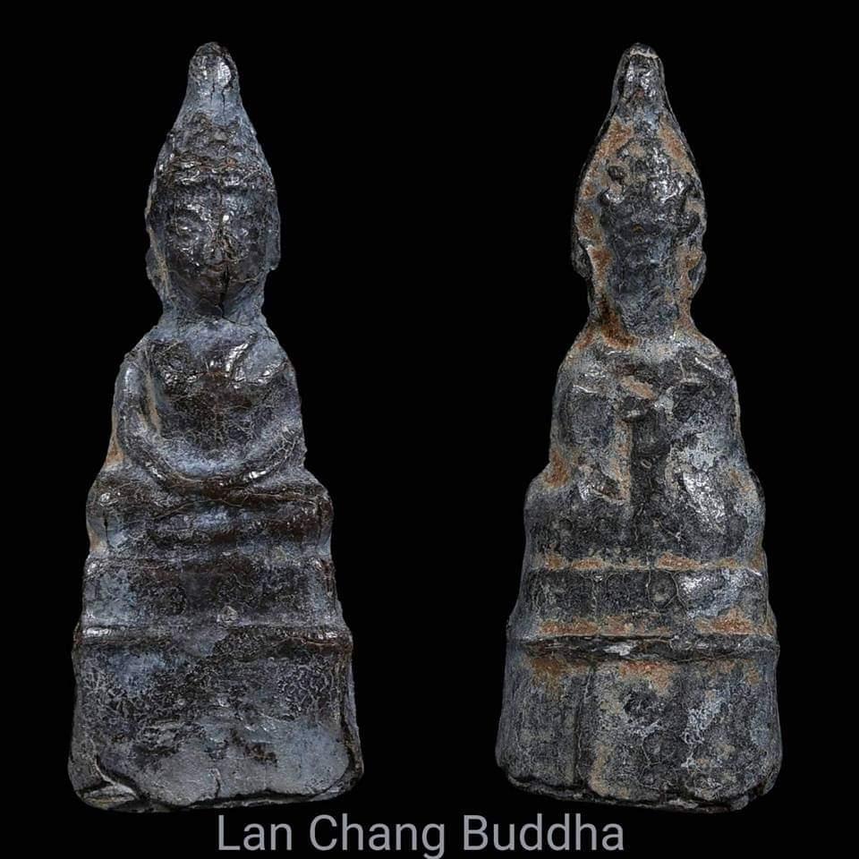 พระพุทธรูปสนิมแดง ปางสมาธิ สมัยล้านช้าง