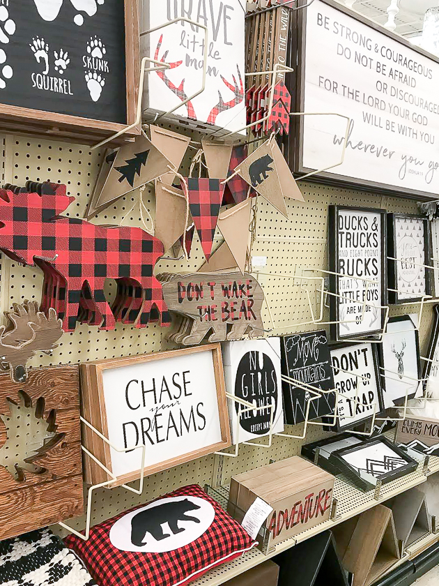 camp decor, farmhouse decor, hobby lobby