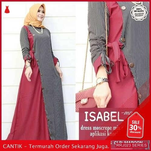 Jual RRJ023D233 Dress Maxy Isabel Wanita Mo Terbaru Trendy BMGShop