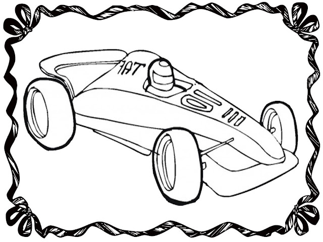 Formula 1 Race Car Coloring Pages