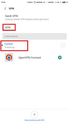 Proses penghubungan vpn pada android