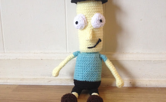FREE Crochet Pattern - Mr. Poopybutthole Plush from Rick and Morty