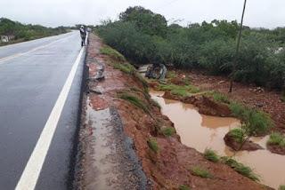 Água da chuva na BR-030