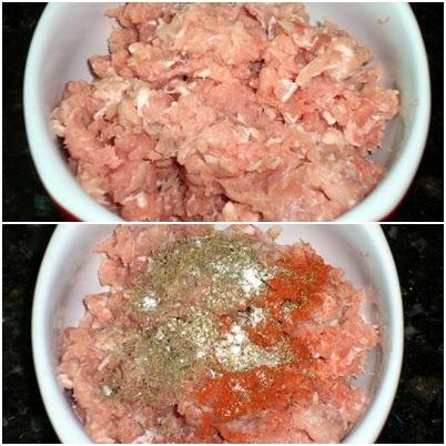 almôndega carne de porco