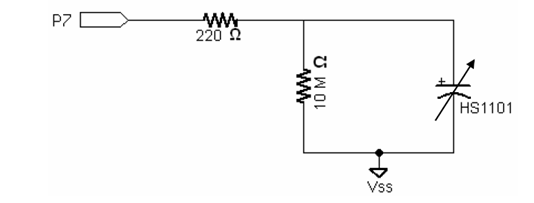 humidity   humidity sensor  circuit of humidity sensor and block diagram of the humidity circuit