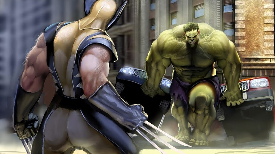 Wolverine vs. The Hulk, Marvel, Superheroes, 4K, #6.1188