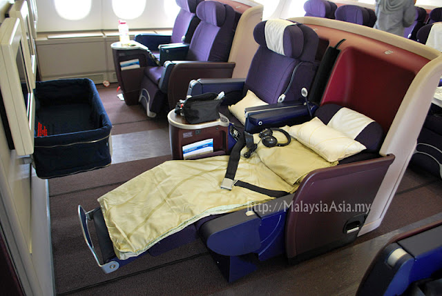 Business Class Flat Bed Seats Malaysia Airlines A380