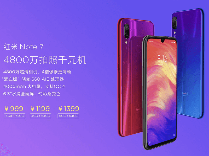 Redmi Note 7 with 48MP camera is official, a game-changer?
