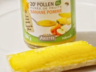 Pollen et Purée de fruits bio banane pomme - Pollenergie