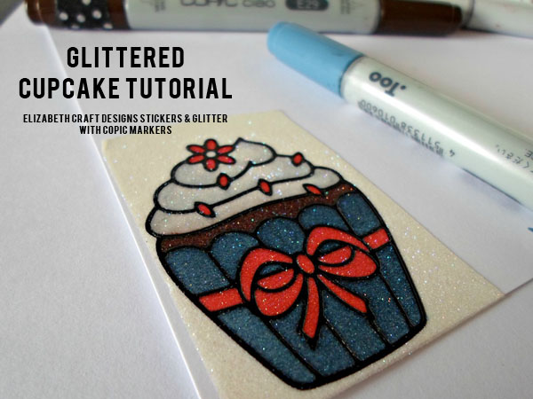Glittered Cupcake Tutorial - Elizabeth Craft Designs