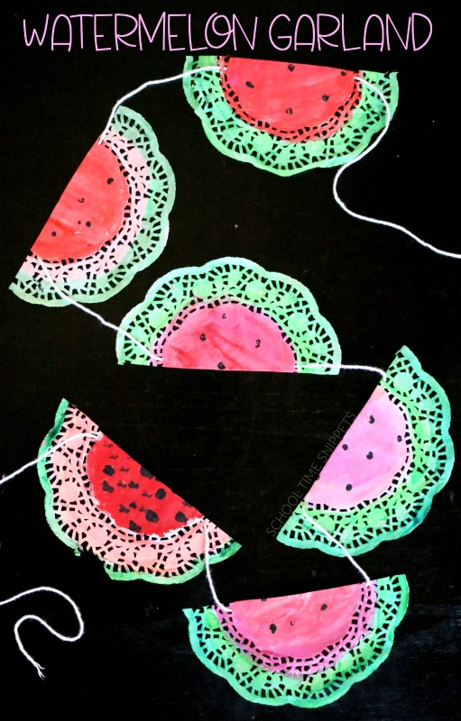 WATERMELON GARLAND DIY DECORATION