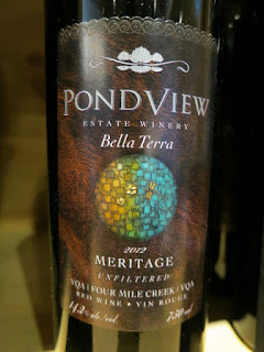 PondView Bella Terra Meritage 2012 - Unfiltered, VQA Four Mile Creek, Niagara Peninsula, Ontario, Canada (90 pts)