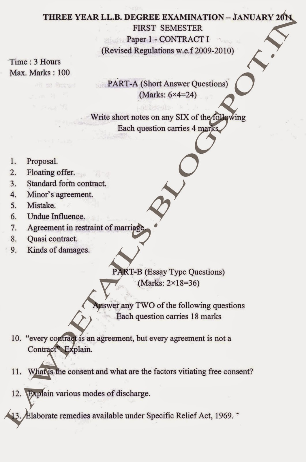 Contract Law Essay Questions And Answers Legal Research Paper Contracts  Essay Questions Contract Law Essay Questions