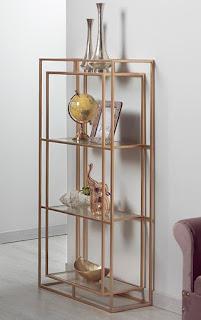 mueble estanteria forja oro