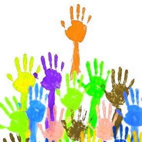 Hand Prints with School Painting