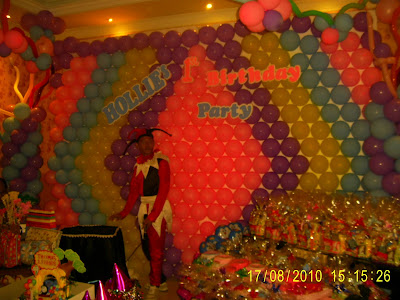 Dekorasi Backdrop background balon wallpaper ulang tahun anak