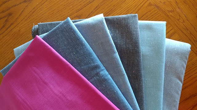 Neon Neppy chambray fabrics by Roberty Kaufman