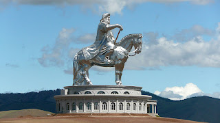 Massive statue of Genghis Khan