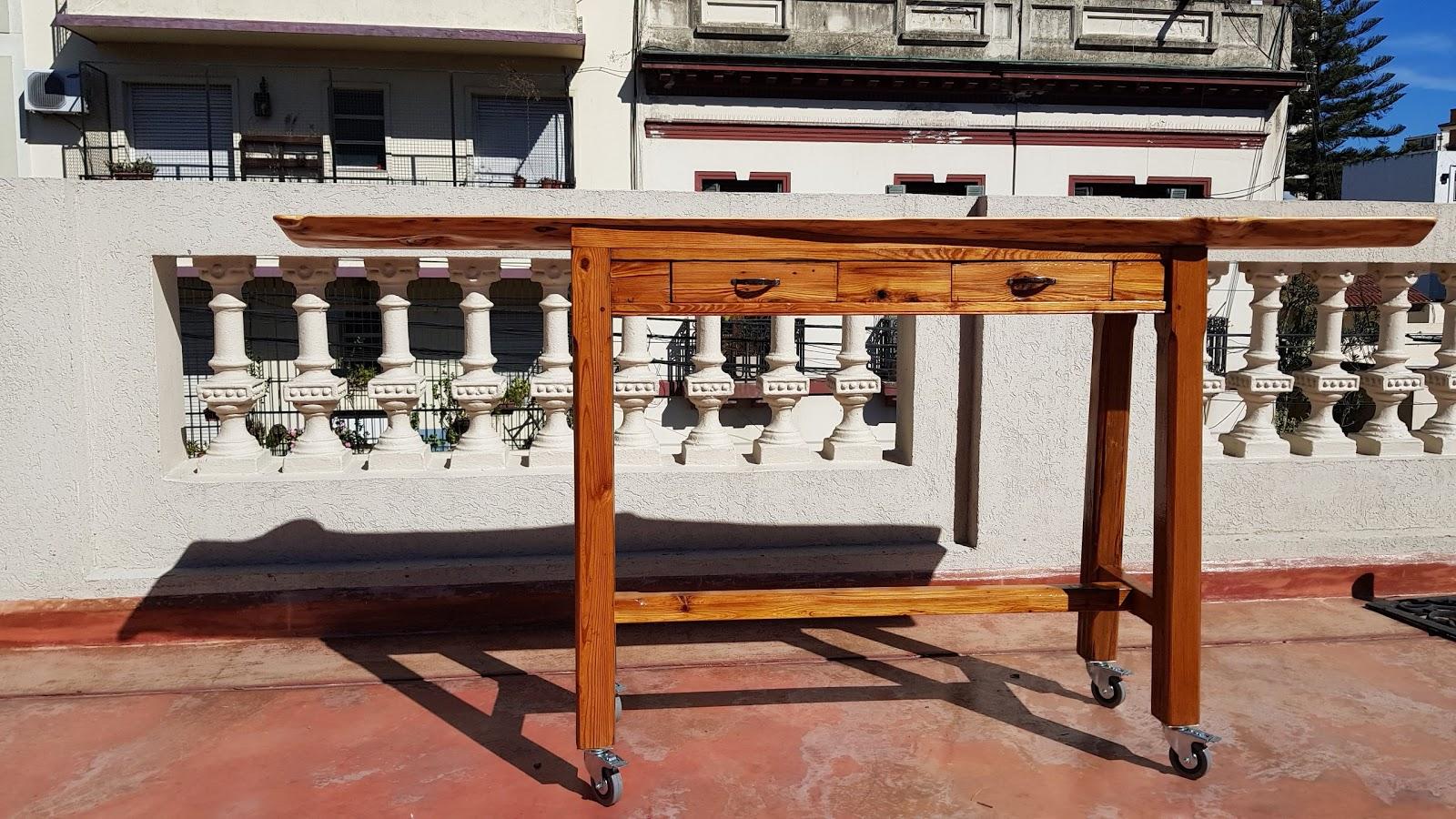 Bar table made of cipres wood
