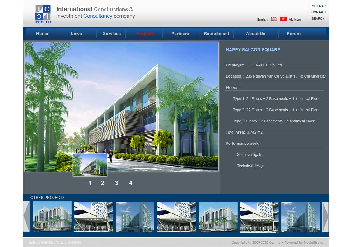 thiết kế web kiến trúc xây dựng chuyên nghiệp